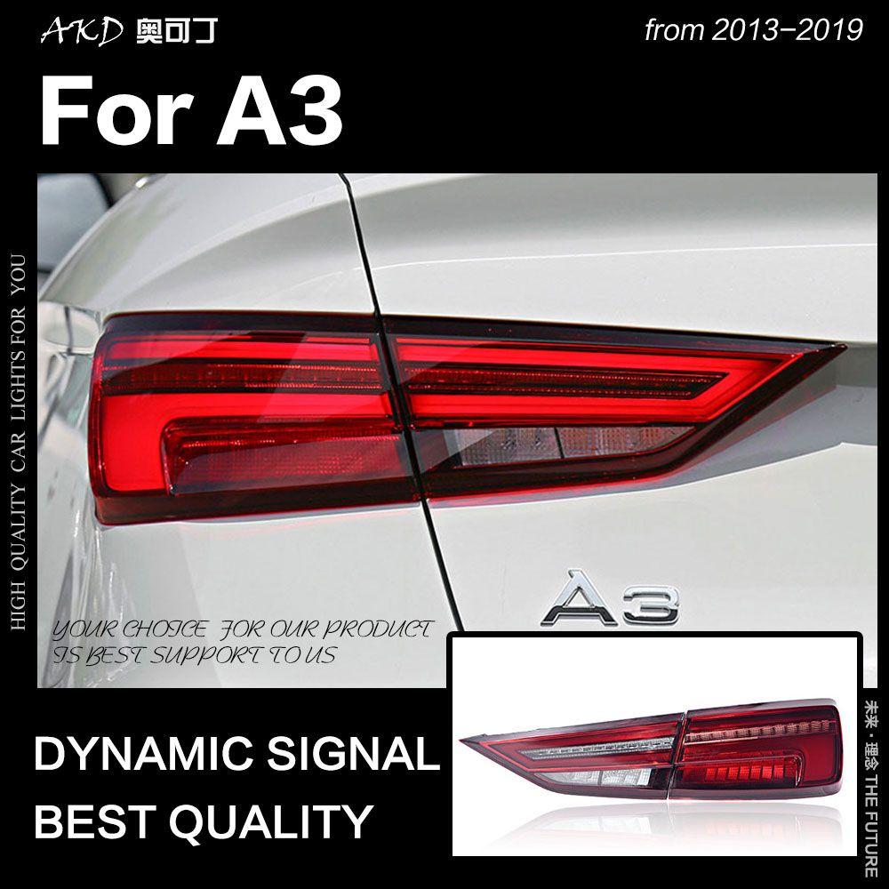 AKD Auto Styling für Audi A3 Schwanz Lichter 2013-2019 A3 LED Schwanz Lampe LED DRL Dynamische Signal Bremse reverse auto Zubehör
