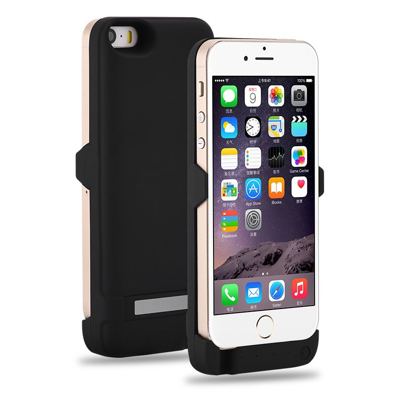 GOLDFOX External Rechargeable Battery Charger Case for iphone 5 5S 4200mAh Power <font><b>Bank</b></font> Battery Case Charging for iphone 5 5s SE