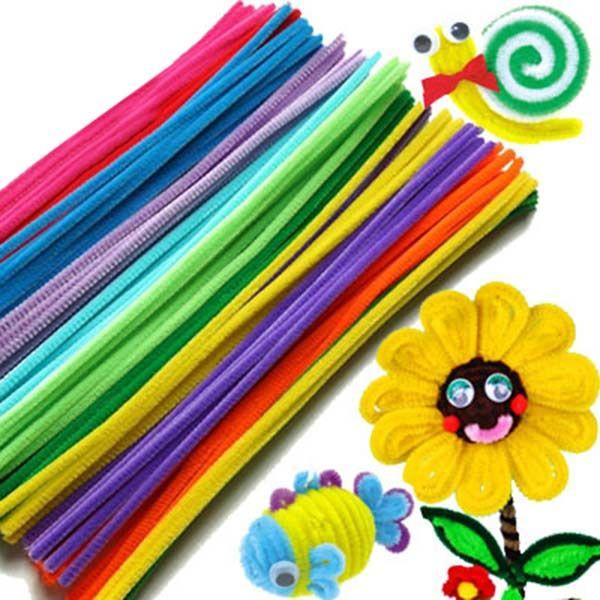100PCS Chenille Stems Colorful Sticks Kids Toy Kindergarten DIY Handcraft Material Creative Kids Educational Toys 88 BM8