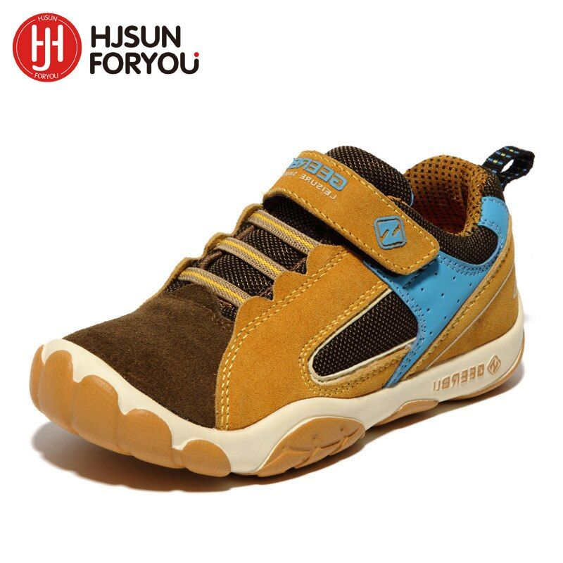 2018 Genuine Leather Children Shoes Size 28-40 Waterproof <font><b>Kids</b></font> Sneakers Breathable Girls and Boys Sports Shoes Outdoor Trainers