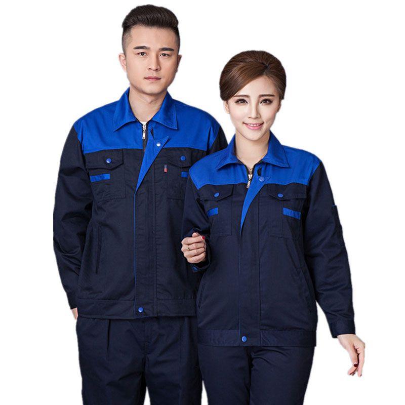 Männer Frauen Arbeitskleidung Sets Unisex Arbeitskleidung Anzüge Frühjahr Herbst Langarm Jacken + Hosen Fabrik Reparatur Arbeiter Uniformen