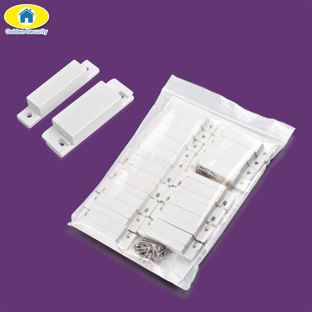 Or Sécurité 10 pcs Filaire Porte Fenêtre Capteur Magnétique Commutateur pour KERUI Maison Système D'alarme Détecteur Porte Fermer NC