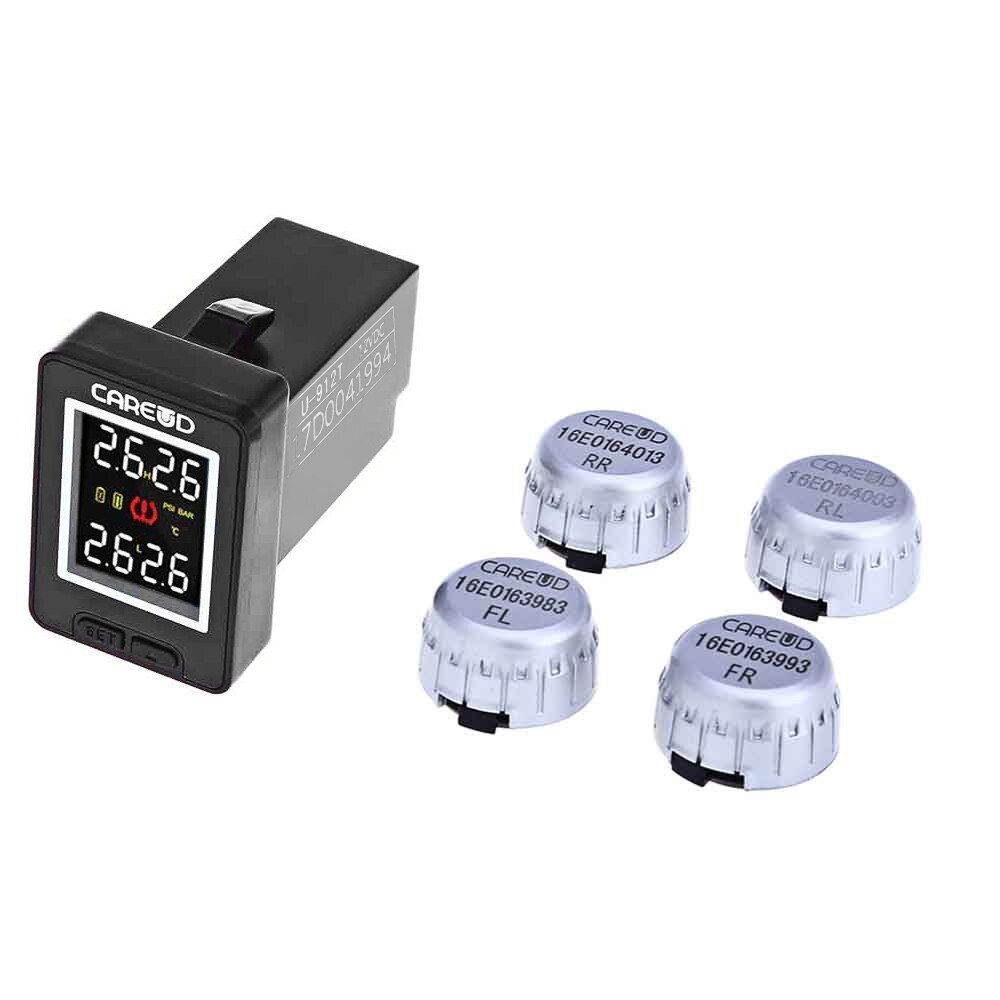 U912 Wireless TPMS Car Tire Pressure for Toyota Monitoring System 4 External Sensors Car Alarm System