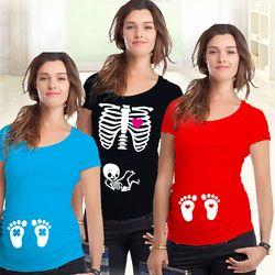 Enceinte De Maternité T Shirts Shorts Casual Vêtements de Grossesse Pour Les Femmes Enceintes Vêtements Gravida Coton Robes D'été 2015