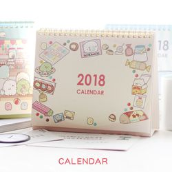 Mignon de bande dessinée 2018 calendrier de bureau belle Sumikko Gurashi baleine calendrier WallCal Creative papier calendrier planificateur livre kawaii