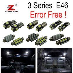 18 pcs LED Bulb Interior Cahaya Kit untuk BMW E46 318i M3 318ti 323i 323is 323ci 325ci 328ci 330ci 330xi 325xi 325i 328i 330i 99-05