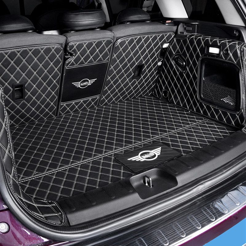 Auto stamm schutz matte Leder Pad auto styling zubehör Für BMW MINI Cooper S JCW F54 F55 F56 F60 R60 CLUBMAN COUNTRYMAN