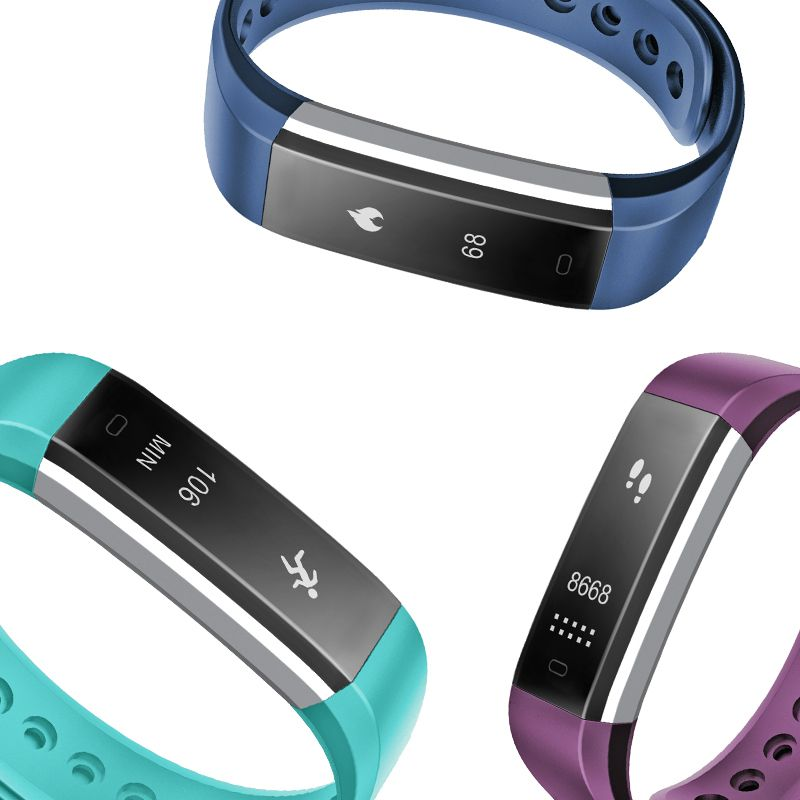 Smartch ID115 HR Smart Band Bluetooth Pulsmesser Fitness Tracker Pedometer Smart Armband Armband für Android IOS Pk M