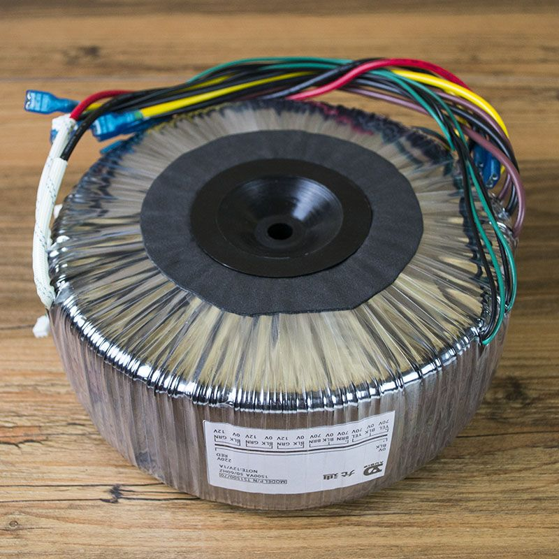 1500W Toroidal Transformer AC220V Output: Double 70V*2 + Single 12V*3 Pure Copper Wire High Power Power Supply