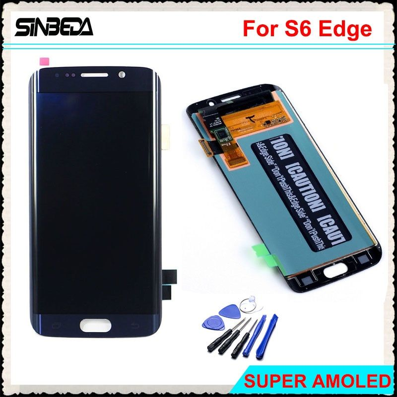Sinbeda 100% Guarantee LCD For Samsung Galaxy S6 Edge G925 G925F G925i LCD Screen Display With Touch Screen Digitizer Assembly