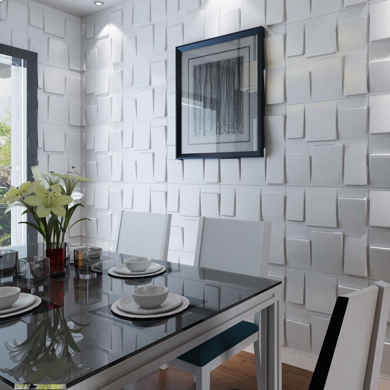 3D panneaux muraux Design texturé Art Pack de 12 carreaux pour chambre salon décoration murale