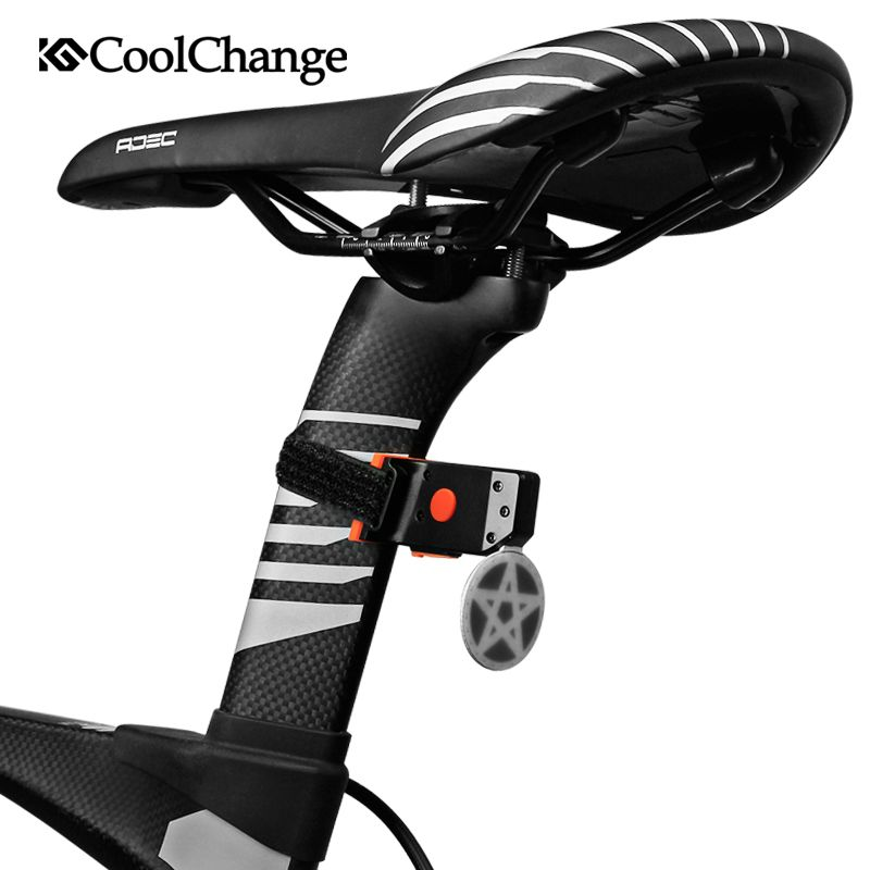 CoolChange Bicycle Light Cycling Bike Taillight LED Rear Light USB Rechargable Warning Lamp Safety Night Riding Light