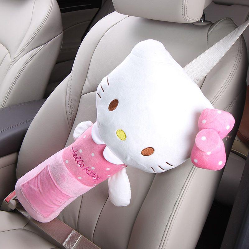 CNIKESIN Car Seat Belts safety universal Kids Seat Belts shoulder pad cover for children Super soft Flannelette shoulder covers