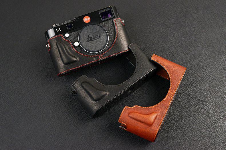 [VR] étui pour appareil photo en cuir véritable fait main pour Leica M240 MP240 MM246 MD262 MM MD sac pour appareil photo demi-corps