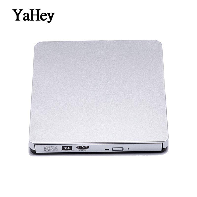 Lecteur DVD externe USB 2.0 DVD-RW graveur lecteur CD/DVD ROM lecteur optique graveur enregistreur pour ordinateur portable + étui pochette