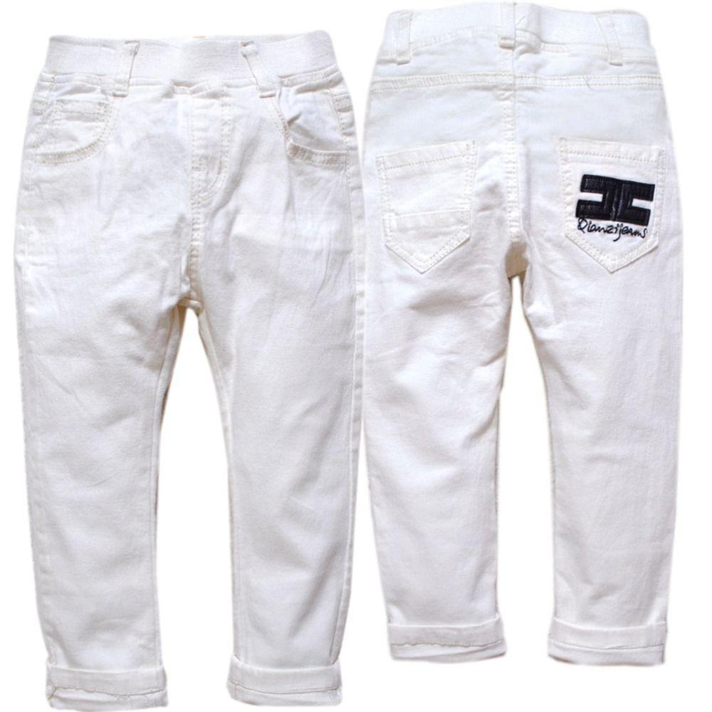 4121 enfants blanc pantalon garçons pantalons printemps automne enfants vêtements très belle mode élastique taille nouveau