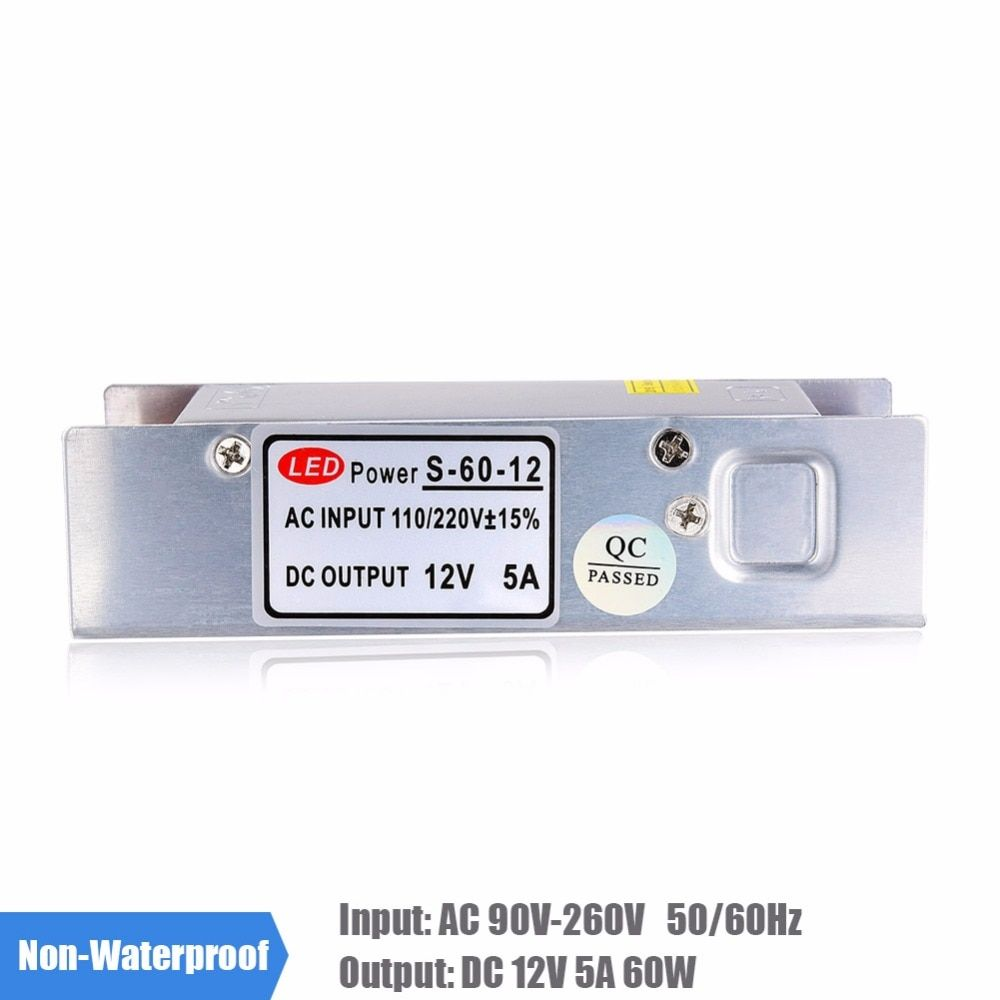 5A 60W LED Power Supply AC 110V 220V to DC 12V LED Driver Transformer Switching Voltage Converter for LED Strip 3528 5050 RGB