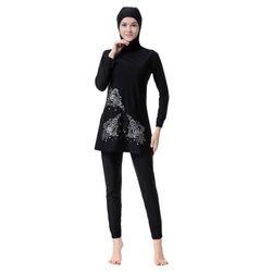 Plus la Taille Imprimé floral Islamique Maillots De Bain Femmes Filles Musulman Ensembles Maillots De Bain Pleine Couverture Modeste Islamique Maillots De Bain Burkinis