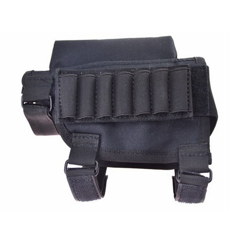 Hot Sell Adjustable Bullet Pouches Tactical Butt Stock Rifle Cheek Rest Pouch Portable Bullet Bag