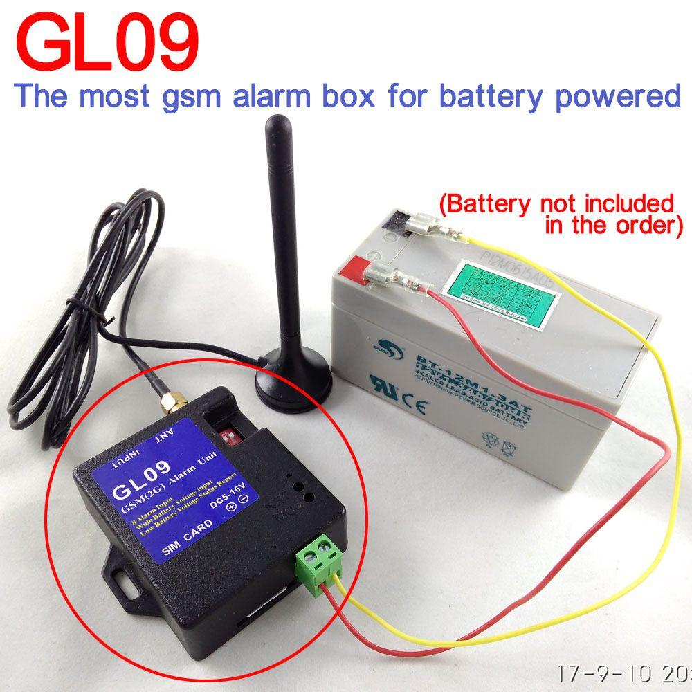 Batterie betrieben 8 kanal GSM SMS Alarm box für zuhause alarmanlage lager sicherheit wasser wasserstand oder temperatur alarm