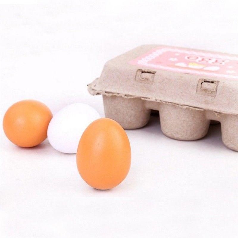 Nueva cabrito pretend play toy set de madera huevos yema de cocina regalo de los niños kids toys preescolar niños educativo juguete de madera de alimentos un