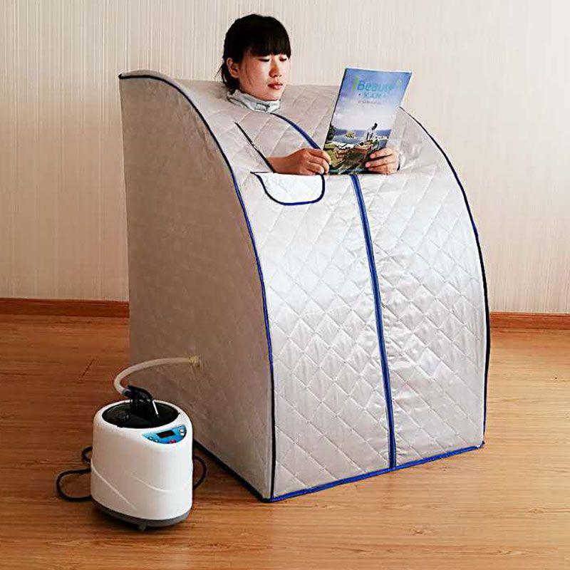Portable Dampfsauna mit dampferzeuger kapazität von 2L gewichtsverlust Haus dampf sauna bath spa Entspannt müde