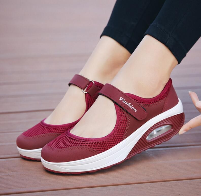 2019Summer Fashion Women Flat Platform Shoes Woman Breathable Mesh Casual Shoes Moccasin Zapatos Mujer Ladies Boat Shoes sapatos