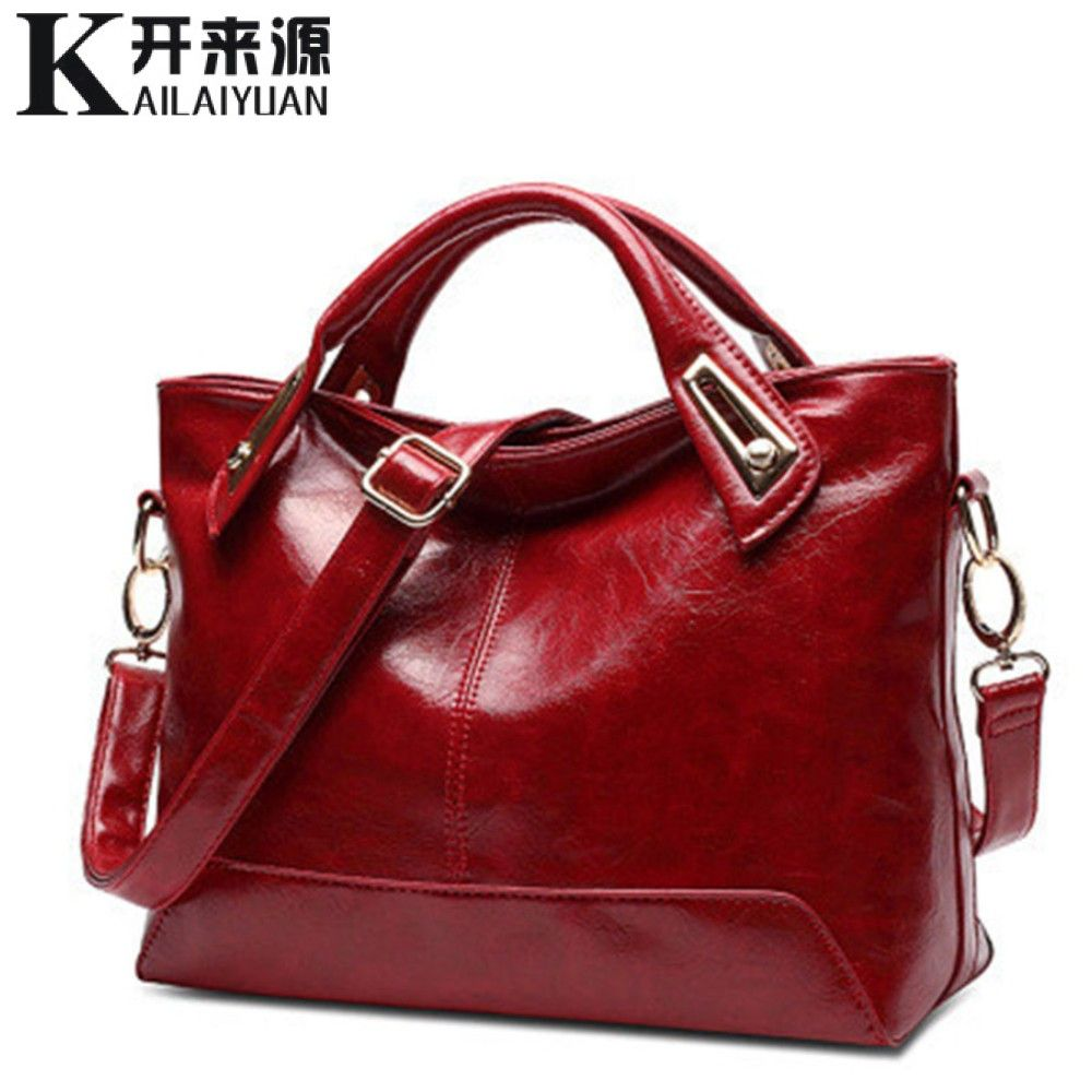 KLY 100% Genuine leather Women handbags 2018 New Square Cross-Section Portable Shoulder Motorcycle Bag Fashion Vintage Messenger