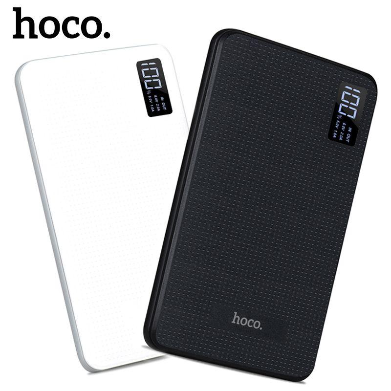 HOCO Puissance Banque 30000 mAh 3USB Externe Portable Mobile Chargeur de Batterie Li-Polymère Soutien LCD Affichage poverbank pour tous les téléphones