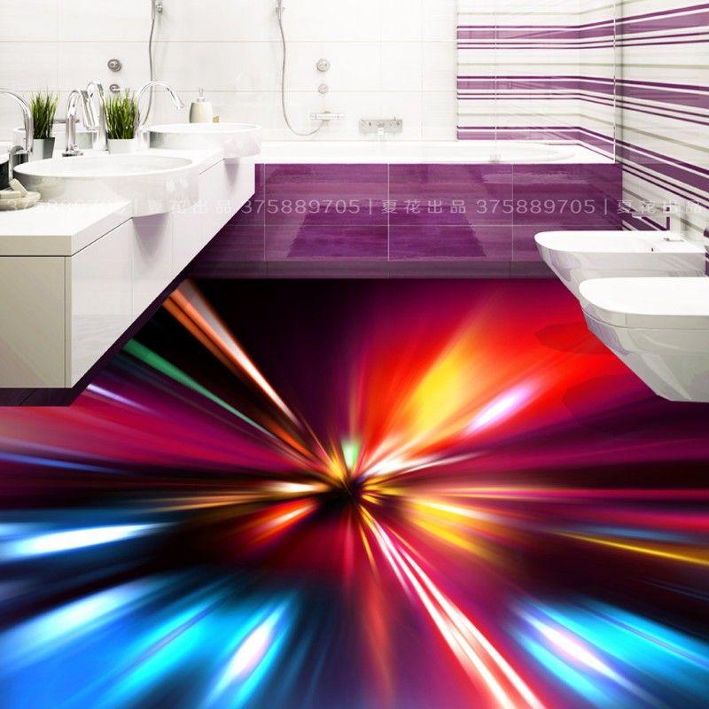Freies Verschiffen Hyun licht KTV 3D boden malerei selbstklebende wohnzimmer bad bodenbelag tapete wandbild dekoration