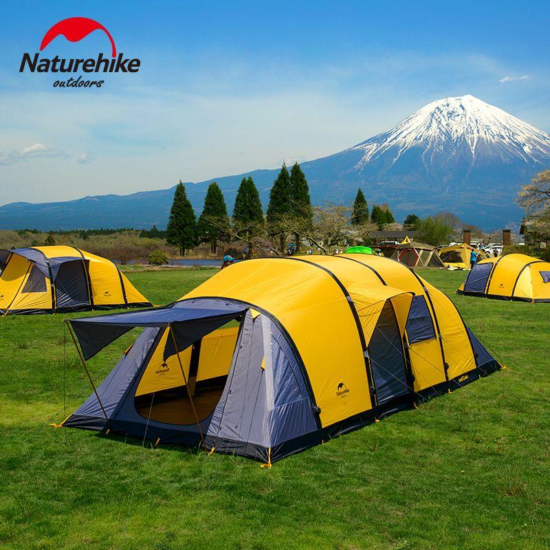 NatureHike Neue Ankunft Wormhole Stil 3/4/5/6/7/8/9/10 menschen Große Raum Zelt Für Familie Urlaub Camping Wandern Außenzelt