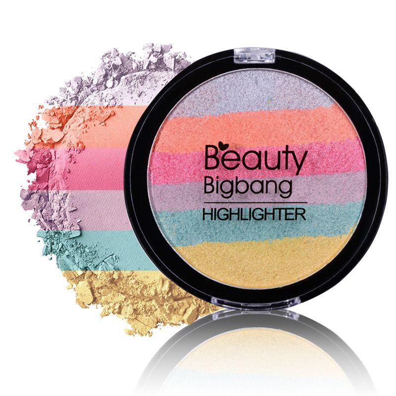 BeautyBigBang Arc-En-Cosmétique Surligneur Poudre Palette Bronzer Contour Doux Minérale Visage Maquillage Palette Maquiagem