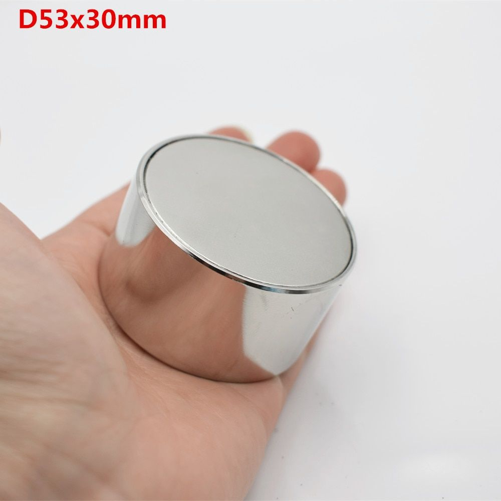 1pcs Neodymium magnet N52 D53x30 Super strong round magnet Rare Earth 50*30mm strongest permanent powerful magnetic iron shell