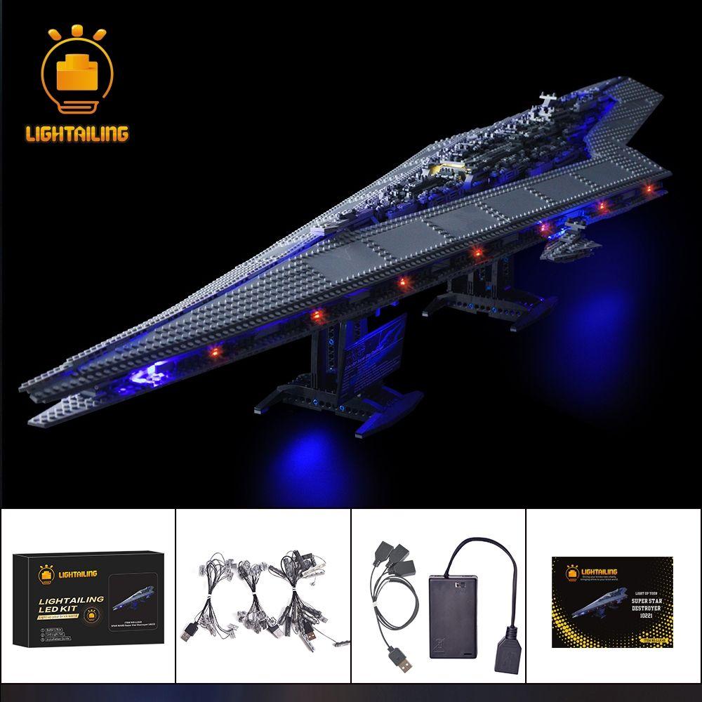 LIGHTAILING LED Light Kit For Star Wars Super Star Destroyer Building Block Light Set Compatible With 10221 And 05028