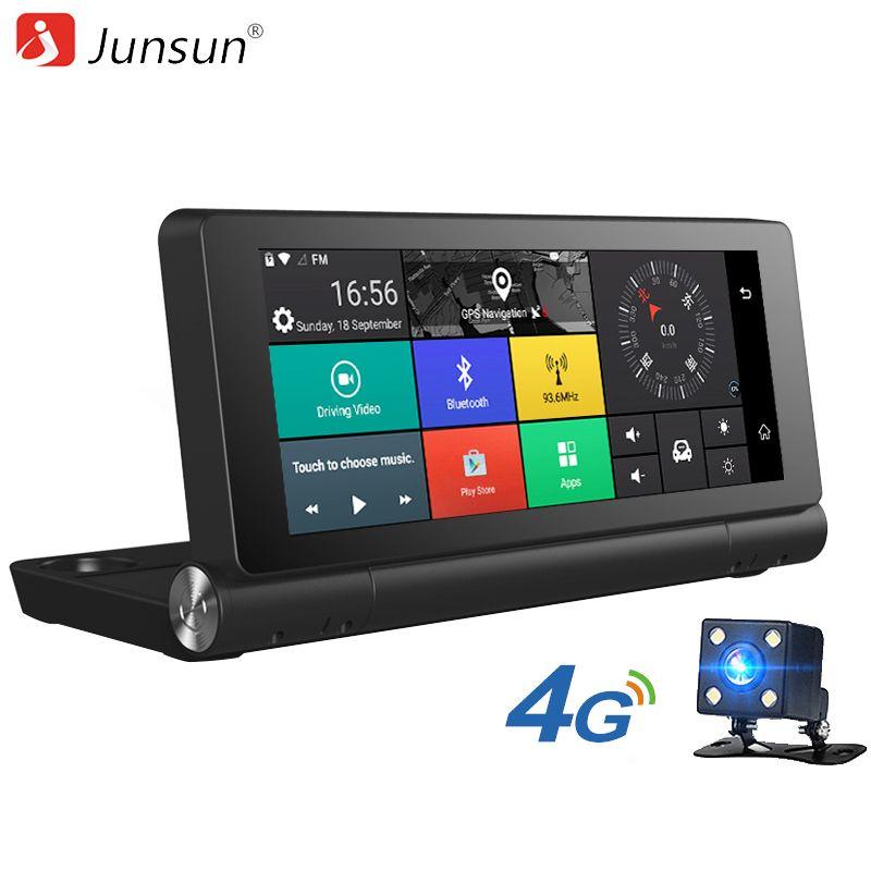 Junsun E28 Car DVR Camera 4G Supported Plus Android 5.0 GPS Bluetooth Dash Cam Registrar 1080P Video Recorder with two cameras