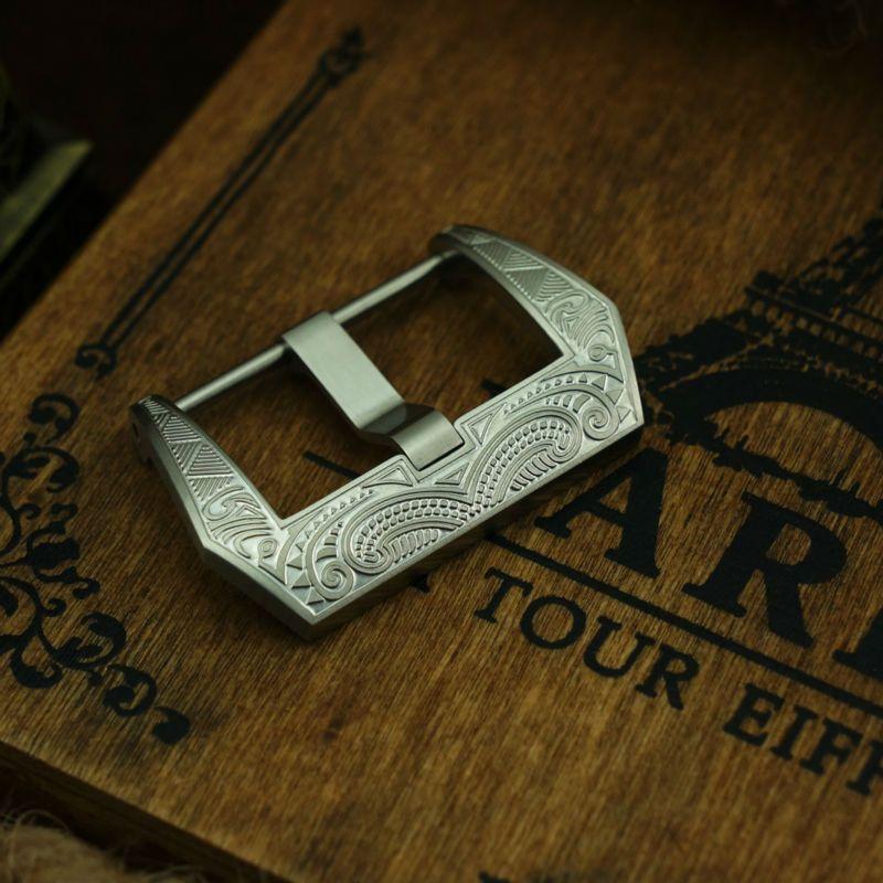 MAIKES 316L En Acier Inoxydable Vis En Bande de Montre Bracelet Fermoir 22mm 24mm 26mm Bracelet Boucle pour Panerai pam111