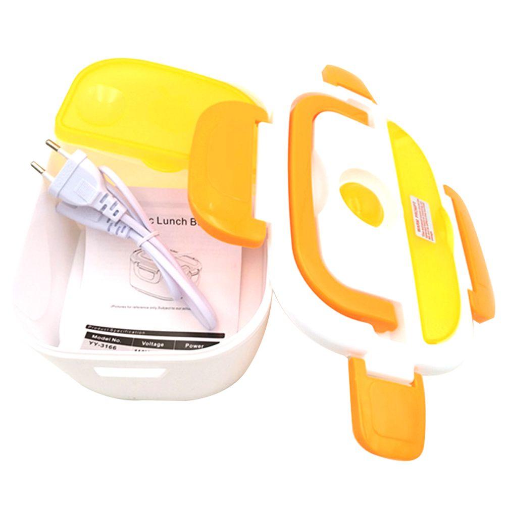 Portable boîte à lunch électrique d'une Seule pièce Séparés Bureau de L'école Bento Boîte À Lunch Enfants Chauffée boîte à déjeuner récipient pour aliments Chaud Une Cuillère