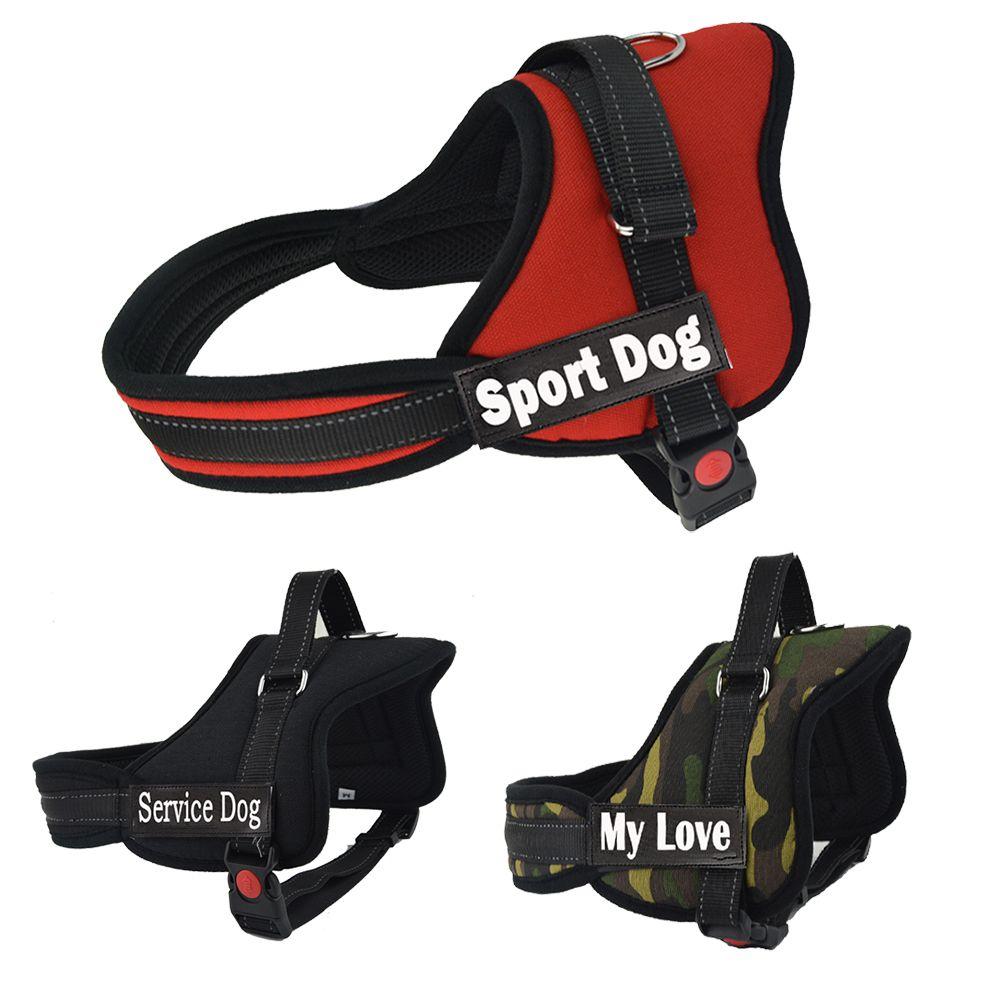 Offre spéciale grand chien nom harnais petit moyen grand chien harnais personnalisé harnais pour chiens