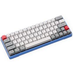 DHL Gratis Pengiriman GK64 Teknik Keyboard 64key Logam Shell Custom Lampu RGB Cherry Profil Kecap Pewarna Cadangan Tombol