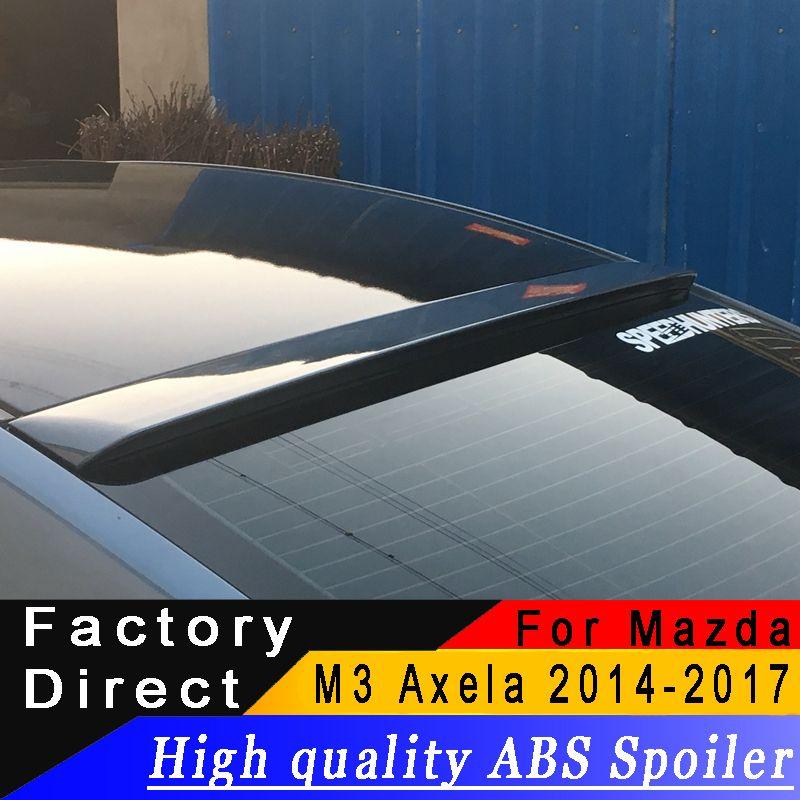 Für Mazda 3 M3 Axela 2014 zu 2017 dach spoiler Hohe qualität ABS material Hinten dach spoiler Primer oder jede farbe für Mazda 3 Axela