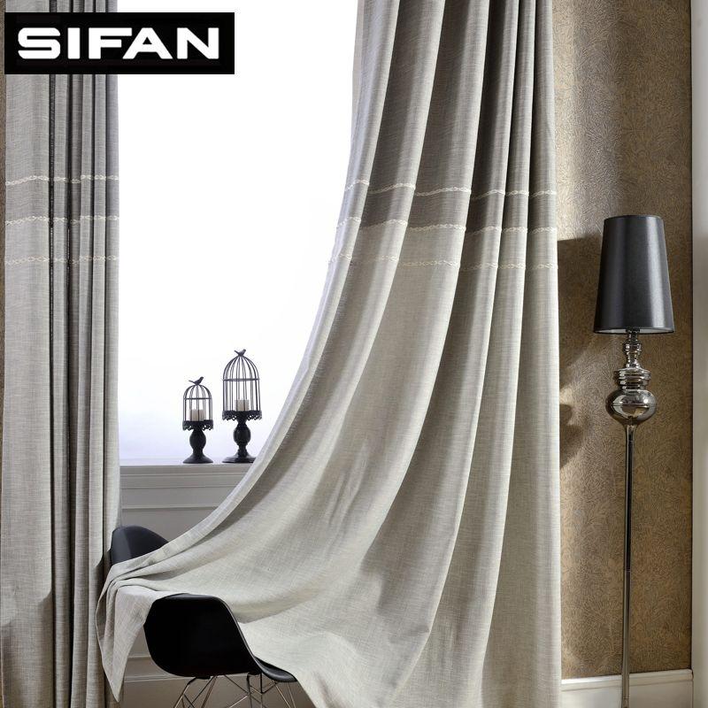 Japon Style Épais Faux Lin Jacquard Rideaux pour Salon pour Chambre Fenêtre Rideaux Modernes Sur Mesure