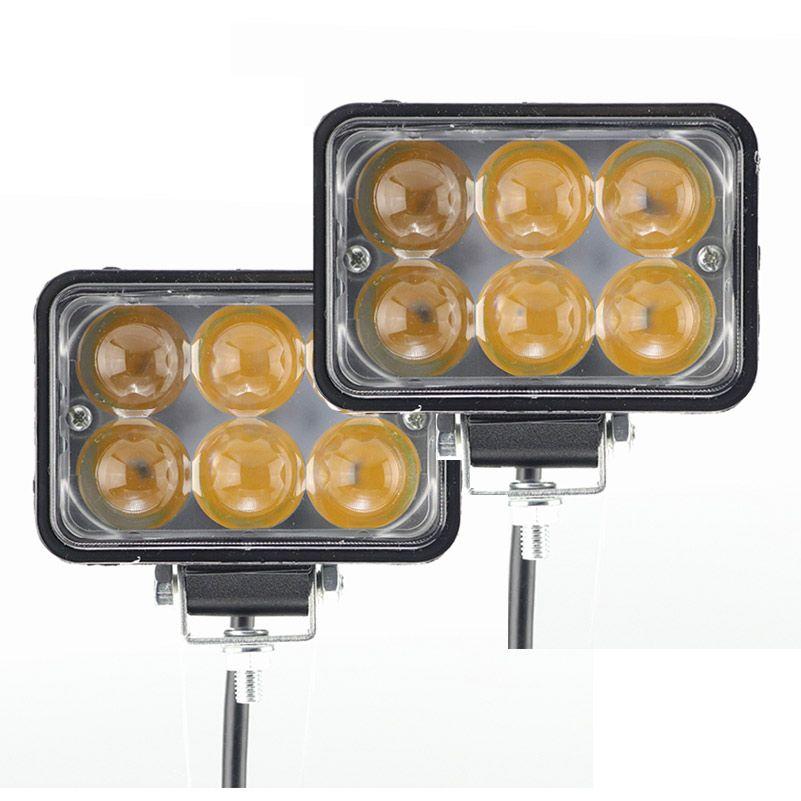 Lumières externes de voiture de tache de lumière de travail de 5 pouces 6 led 4D 30W Super conduite a mené des lumières de tache de voiture d'antibrouillard pour le SUV de moto tout-terrain