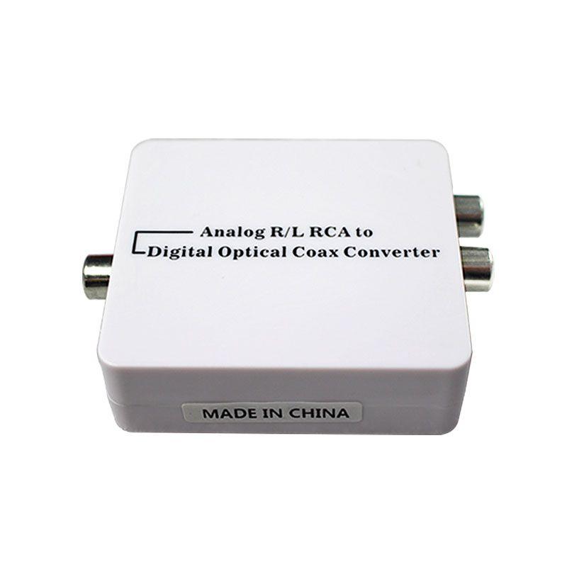 Convertisseur Audio analogique-numérique adaptateur audio R/L RCA vers Coaxial ou Coaxial optique Toslink