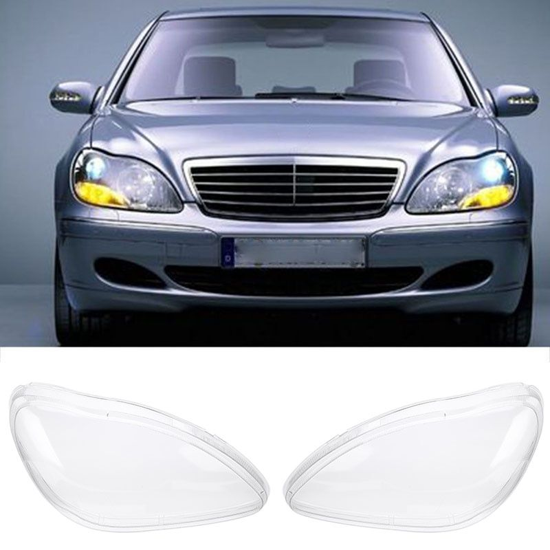Mayitr 1 Pair Right Left Side Headlight Clear Lens Cover For Benz W220 S600 S500 S320 S350 S280 1998-2005 Transparent Housing