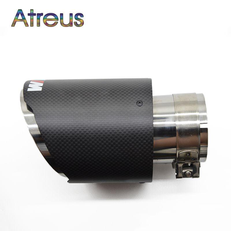 Atreus углерода Волокно автомобиль глушитель Совет трубы для BMW F30 320i 316i M3 M4 M5 1 2 3 4 5 6 7 x серии Z Интимные аксессуары