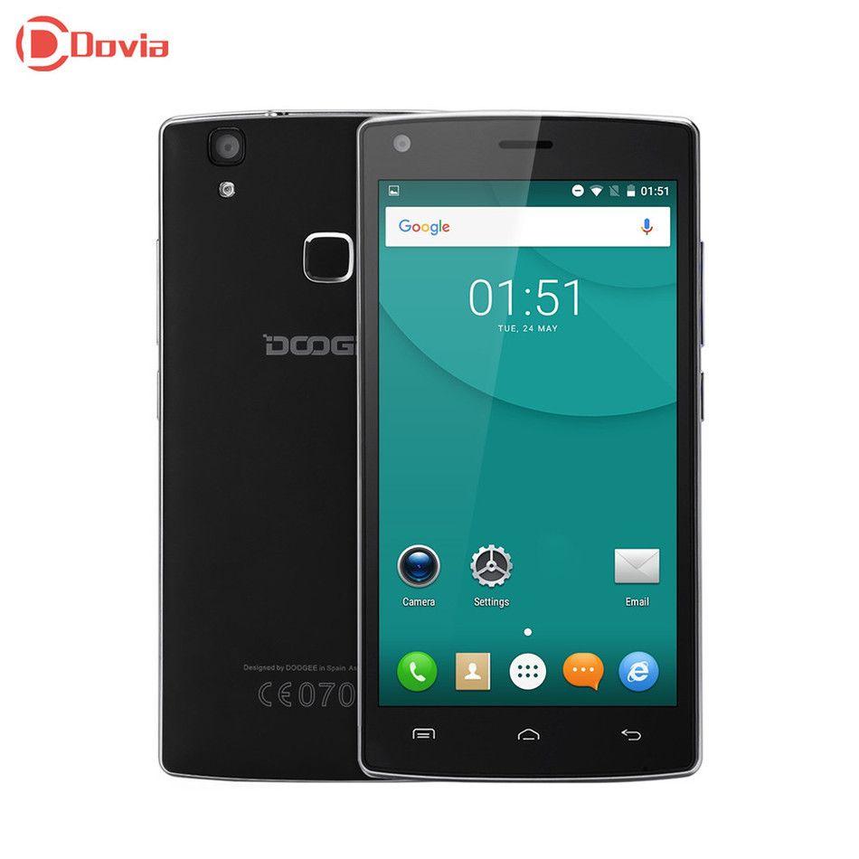 Doogee X5 Max MTK6580 Android 6.0 Quad Core Fingerprint Smart Phone 5.0inch HD 1280*720 1GB RAM 8GB ROM  8MP Camera Mobile Phone