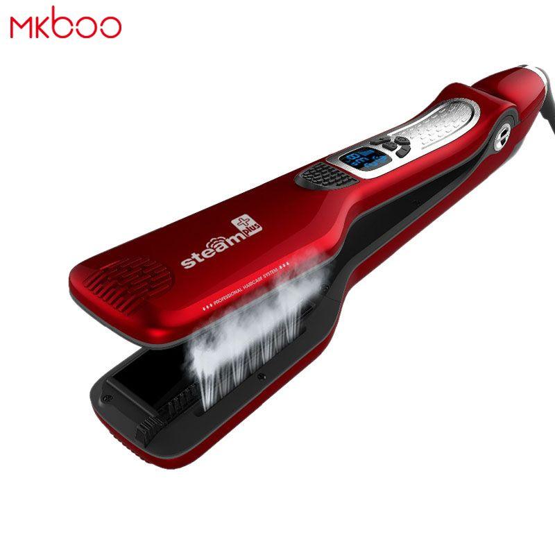 MKBOO LCD electric steampod hair straightener flat hair iron hair flat iron professional straightening iron steam iron hair