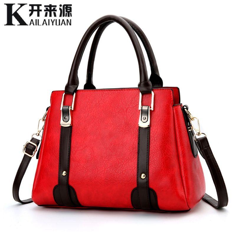 KLY 100% Echtem leder Frauen handtaschen 2019 Neue Weibliche Koreanische version von die süße und stilvollen frauen tasche geschlungen schulter tasche