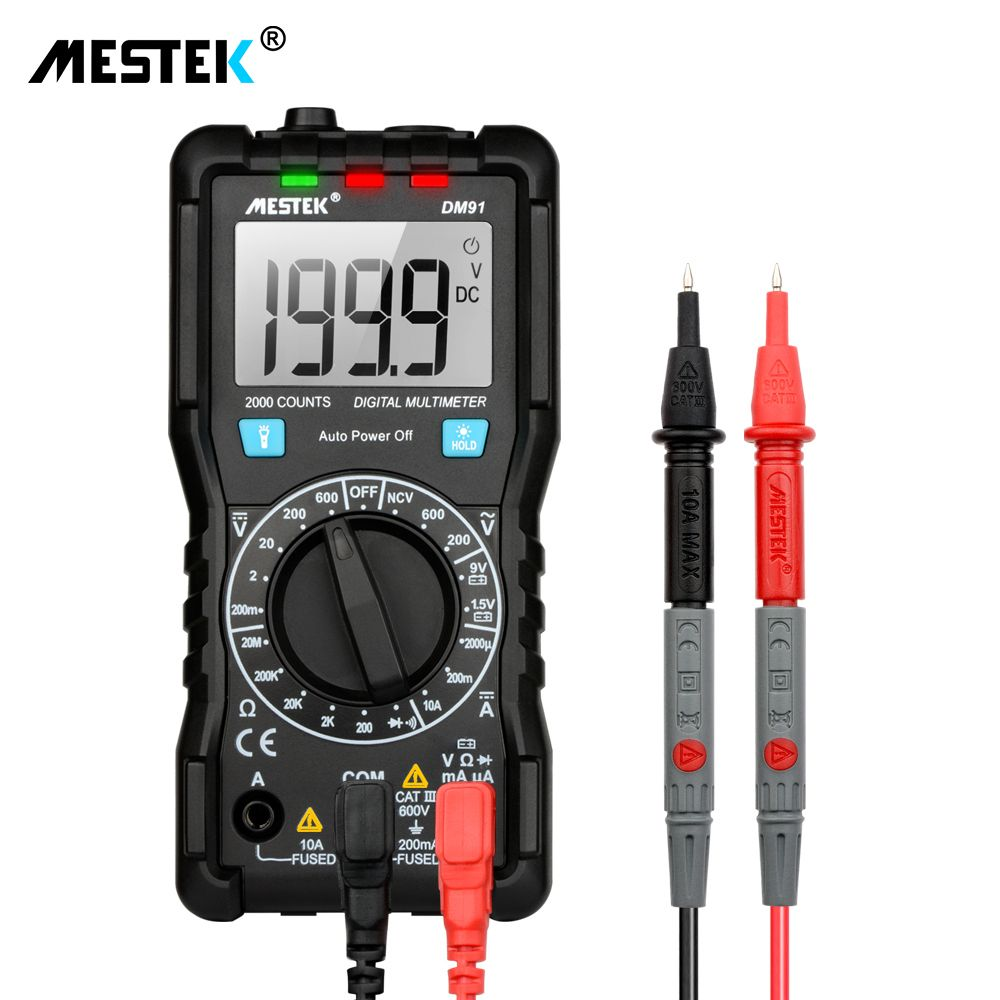 Auto-range LCD Digital Multimeter multimetro analogico DC/AC Voltage DC Current Meter Resistance Tester Voltmeter Ammeter