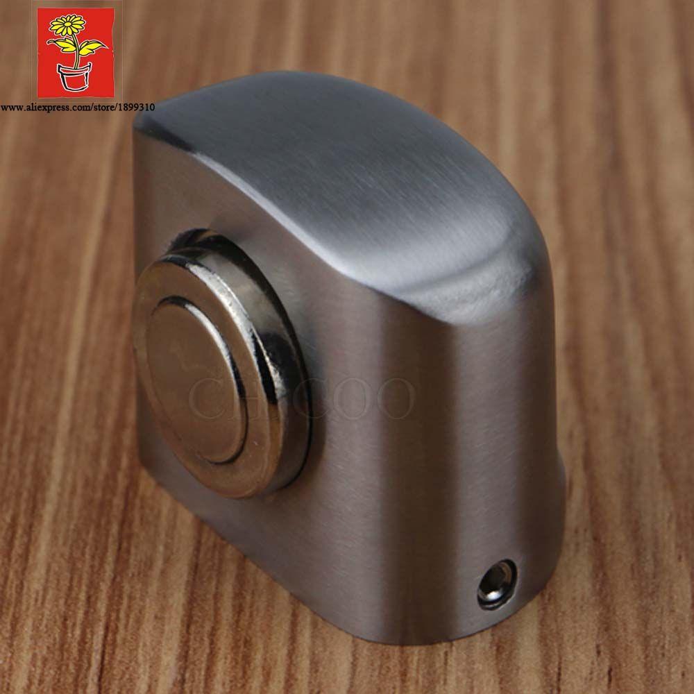 Butoir de porte magnétique de bâti de l'acier inoxydable 304, butée de porte magnétique montée par plancher